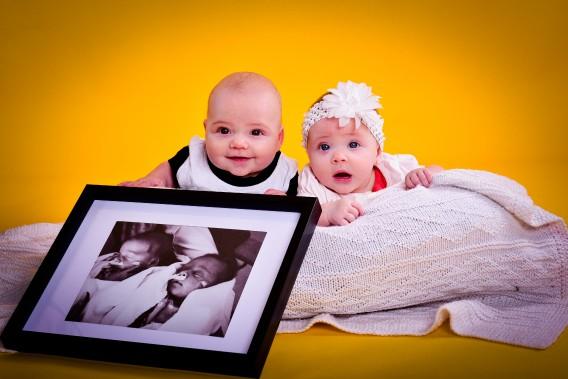Les jumeaux Maïk et Adéva ont 5 mois, ils sont nés à 34 semaines. ()