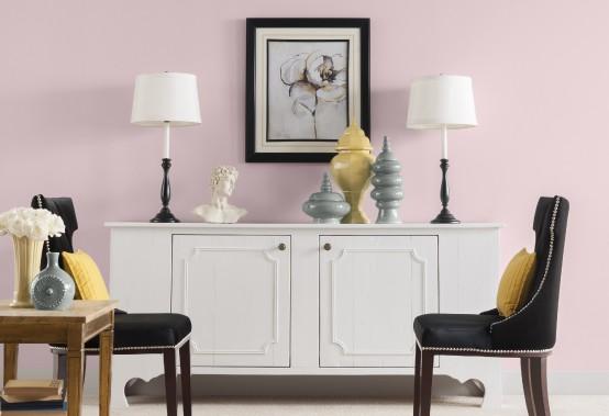 Selon les peintures CIL, le rose cendré - comme Rose chemise (60YR 75/075 MC10), la couleur de l'année 2016 de la marque - sera la nuance la plus tendance en décoration intérieure en 2016. (Les peintures CIL)