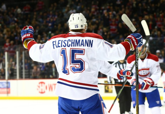 Tomas Fleishmann célèbre après avoir marqué en première période. (PHOTO ANDY MARLIN, USA TODAY)
