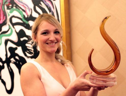 Andrée-Anne Bernier, de la clinique chiropratique St-Joseph, a gagnédans la catégorie Entrepreneuriat au féminin. (Étienne Ranger, LeDroit)