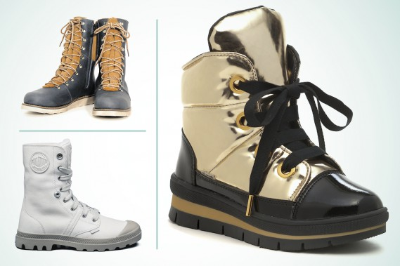 Modèle Banff Alpha pour homme d'Amimoc, 259,99 $ (en haut à gauche); bottes Pallabrouse PGY WPS pour femme de Palladium, 185 $ (en bas à gauche) ; modèle St Moritz pour femme de Jog Dog, 295 $ (Infographie Le Soleil)