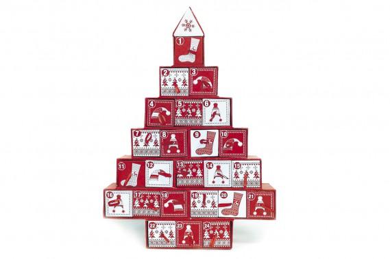Calendrier de l'Avent rouge et blanc, 17,50 $ chez Eddy Laurent (Fournie par Eddy Laurent)