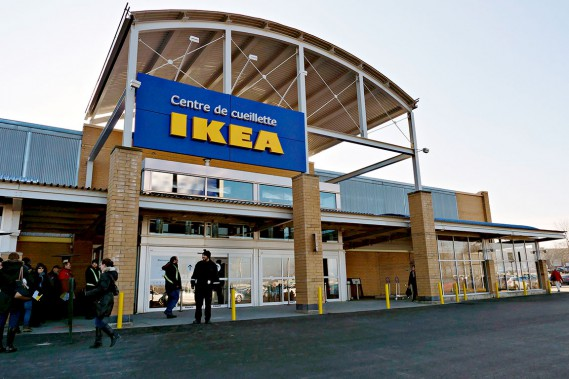 Le nouveau centre de cueillette IKEA à Québec (Le Soleil, Frédéric Matte)