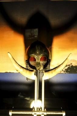 L'exposition<em>Vikings</em>, au Musée canadien de l'histoire, abat les mythes entourant les guerriers scandinaves. Contrairement à la croyance populaire, les Vikings n'arboraient pas de cornes sur leurs casques. (Patrick Woodbury, LeDroit)