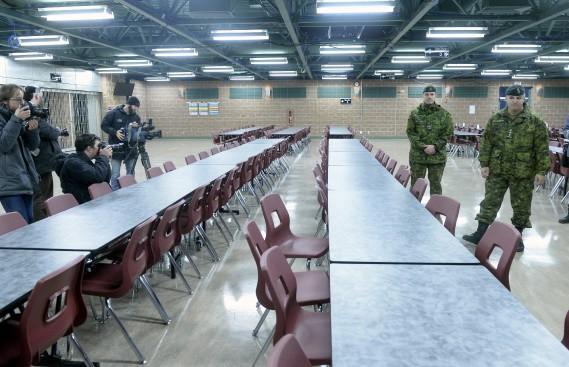 Les repas pourront être pris dans une grande cafétéria de 450 places qui offrira un menu adapté aux moeurs des réfugiés, un aspect de la logistique confié à un sous-traitant du gouvernement. (Le Soleil, Jean-Marie Villeneuve)