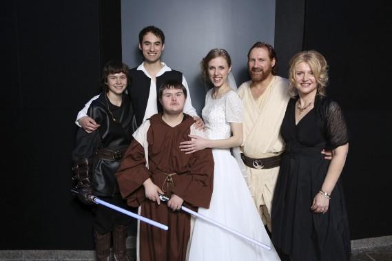 Aucun détail n'avait été laissé de côté: des Stormtroopers étaient présents, ainsi que Obi-Wan Kenobi, Chewbacca, Boba Fett et même Darth Maul. (Frédéric Lavoie)
