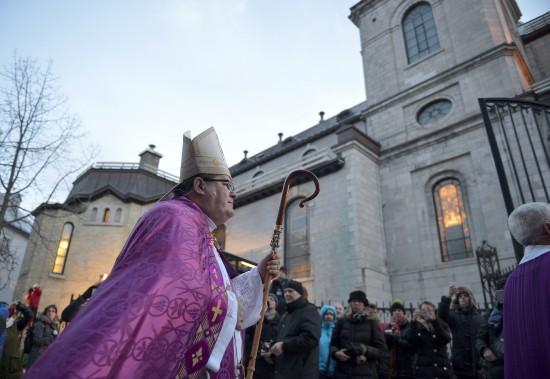 La cérémonie a été célébrée par le cardinal Gérald Cyprien Lacroix. (Photo Le Soleil, Yan Doublet)