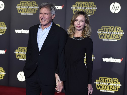 Harrison Ford (Han Solo) et sa conjointeCalista Flockhart (AP, Jordan Strauss)