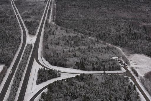 Le secteur près de la route 40 ou les ossements de Cédrika Provencher ont été trouvés. (Le Nouvelliste)