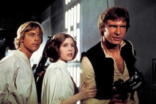 Mark Hamill, Carrie Fisher et Harrison Ford reprennent les rôles qui les ont rendus célèbres dans la trilogie originale. (The Associated Press)
