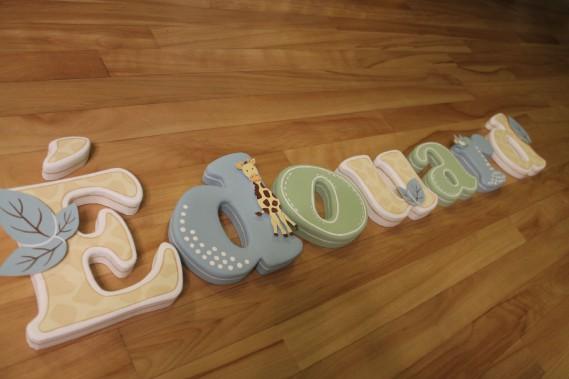 Lettrages créatifs fabriqués en styromousse (Fournie par Mélissa Robitaille)