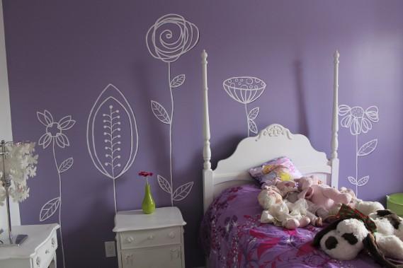 Mélissa Robitaille a tenu compte du mobilier pour peindre cette murale. (Fournie par Mélissa Robitaille)