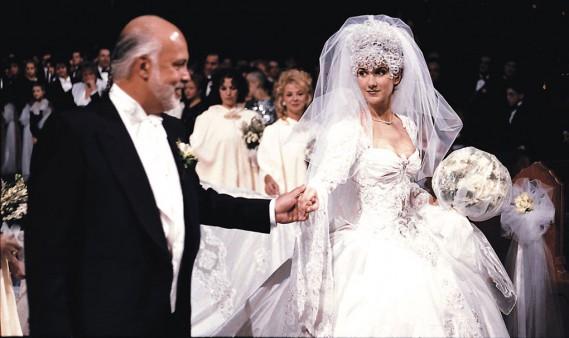 Le mariage de René Angélil et Céline Dion a été célébré le 17 décembre 1994 à la basilique Notre-Dame. (PHOTO ARCHIVES LA PRESSE)