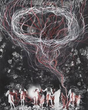 Annie Baillargeon, <em>Sténopé</em>, 2015, impression Jet d'encre/aquarelle et encre 20