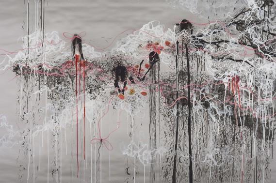 Annie Baillargeon, <em>La perte</em>, 2015, impression Jet d'encre/aquarelle et encre 40