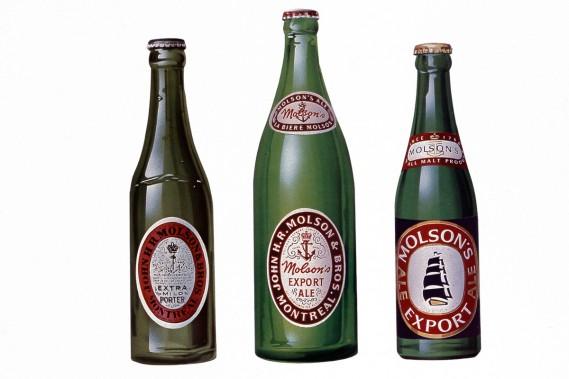 L'évolution des produits Molson au fil du temps. (PHOTO FOURNIE PAR MOLSON)