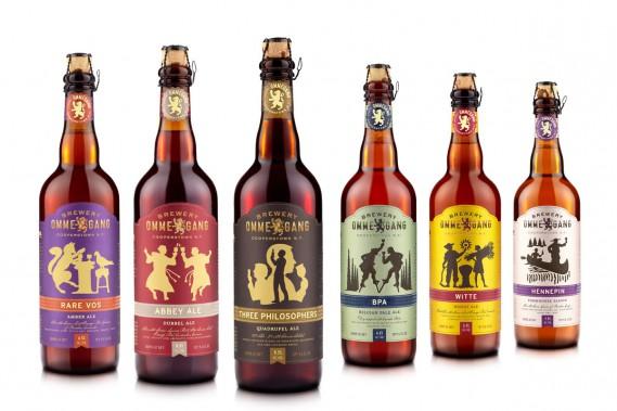 La brasserie Ommegang, située à Cooperstown dans l'État de New York, a fait l'objet d'une profonde mutation de son image de marque en 2012. Un ruban indique clairement le nom de la bière tandis que des silhouettes sur des fonds colorés dominent les étiquettes. (PHOTO FOURNIE PAR BREWERY OMMEGANG)
