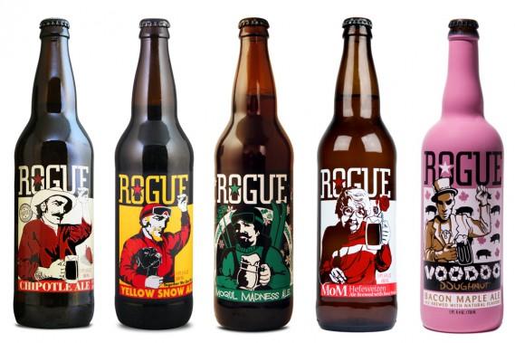 Pionnière de la révolution brassicole de la Côte ouest américain, Rogue s'est fait connaître avec une multitude de bouteilles sérigraphiées mettant en vedette des personnages tous plus colorés les uns que les autres. (PHOTO FOURNIE PAR ROGUE)