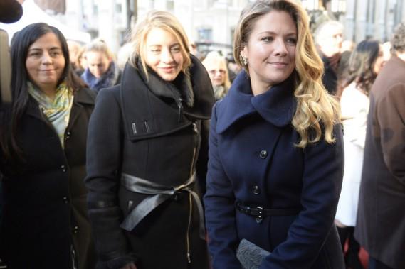 Mélanie Joly, ministre du Patrimoine canadien, et Sophie Grégoire-Trudeau, épouse du premier ministre Justin Trudeau. (PHOTO LA PRESSE CANADIENNE)