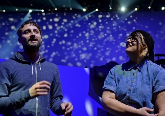 Louis-Jean Cormier et Safia Nolin (Le Soleil, Erick Labbé)