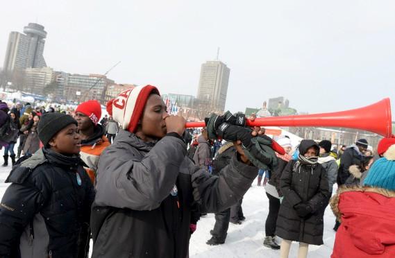 Quelque 825 nouveaux arrivants, de 40 nationalités différentes, ont participé au premier Mondial des Neiges. (Le Soleil, Erick Labbé)
