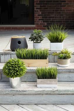 Plantes artificielles, cache-pot et cabane d'oiseaux s'annoncent au jardin. (Fournie par HomeSense)