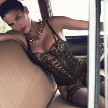 Aubade, corset en dentelle noire, 376$. Offerte à la boutique Lyla au 400, rue Laurier Ouest. (PHOTO FOURNIE PAR AUBADE)