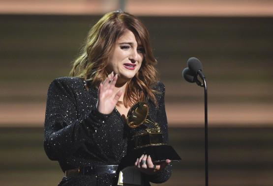 Meghan Trainor a remporté le précieux Grammy de la Révélation de l'année. (AFP, Robyn Beck)