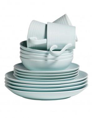 Ensemble de vaisselle 16 pièces Maze, collection Gordon Ramsay, 99 $ chez La Baie (Photo fournie par La Baie)