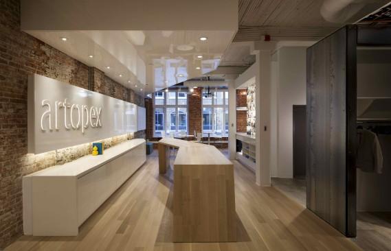 La firme Lemay a reçu un prix pour la salle d'exposition Artopex à Québec. (Claude Simon Langlois)