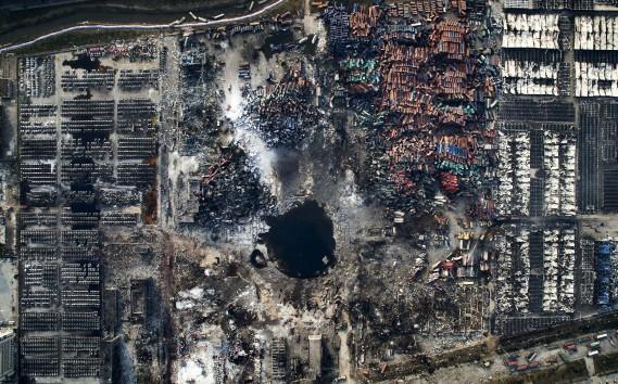 Troisième Prix en Nouvelles générales: «Explosion à Tianjin», de Chen Jie, sur l'explosion survenue dans cette région de la Chine en août 2015 (Fournie par World Press Photo)