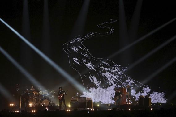 James Bay (meilleur artiste britannique) sur scène pendant le gala (AFP, Justin Tallis)