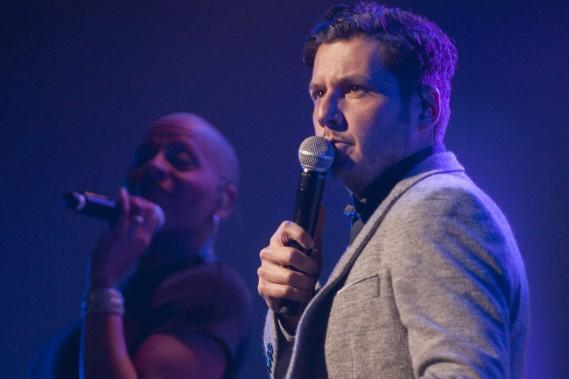 Le chanteur originaire de la région Marc-André Fortin (Photo Le Quotidien, Michel Tremblay)