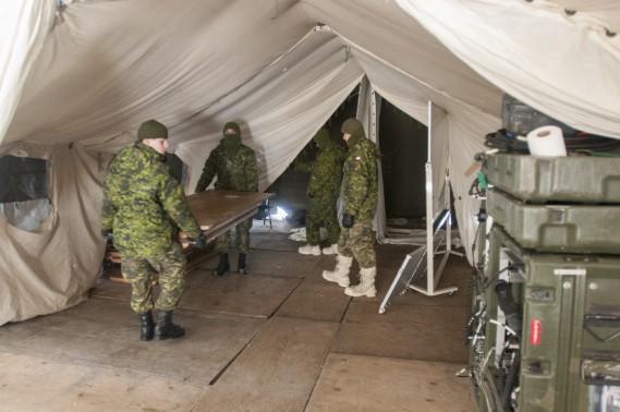 Le poste de commandement de l'exercice militaire d'envergure était installé au Régiment du Saguenay. (Photo Le Quotidien, Michel Tremblay)