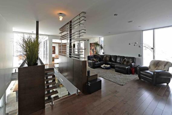 À l'étage, la zone des parents est séparée de la zone des enfants par un salon. (Le Soleil, Patrice Laroche)