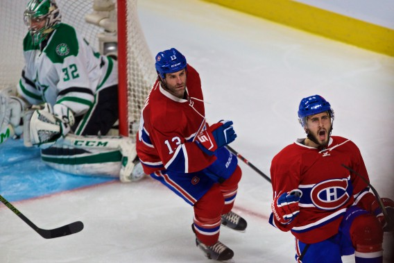 Philip Danault (24) a marqué son premier but dans l'uniforme du Canadien. (PHOTO ANDRÉ PICHETTE, LA PRESSE)