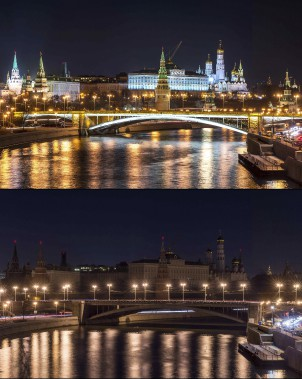 Le Kremlin, à Moscou (Agence France-Presse)