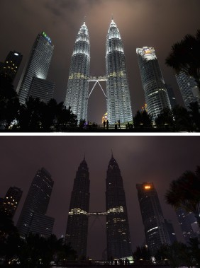 Les tours Petronas, à Kuala Lumpur, en Malaisie (Agence France-Presse)