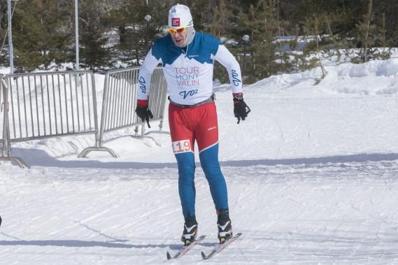 Claude Dalcourt a devancé Pierre Lavoie pour remporter le 45km classique. (Photo Le Progrès-Dimanche, Michel Tremblay)