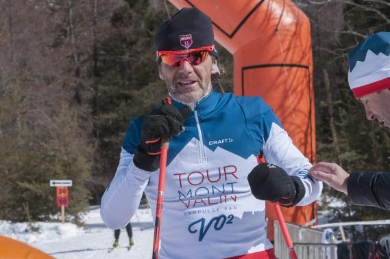 Pierre Lavoie a terminé au deuxième rang à l'épreuve du 45 kilomètres classique. (Photo Le Progrès-Dimanche, Michel Tremblay)