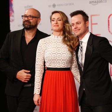 Le réalisateur du film <em>Le</em><em>Mirage</em> Ricardo Trogi, et ses acteurs Christine Beaulieu et Louis Morissette.PHOTO OLIVIER JEAN, LA PRESSE ()