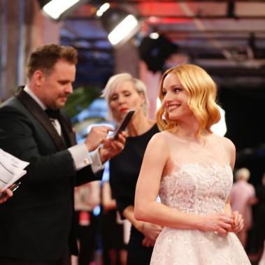 Laurence Leboeuf sur le tapis rouge du Gala du cinéma québécois. (Photo Olivier Jean, La Presse)