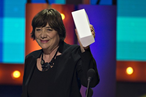 <em>La passion d'Augustine</em>» sort grand vainqueur de ce gala avec six trophées, dont meilleur film et meilleure réalisation. Sur la photo, la réalisatrice Léa Pool.PHOTO OLIVIER JEAN, LA PRESSE ()