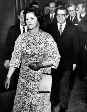 Claire Kirkland-Casgrain, en janvier1963 (Photo PAUL HENRI TALBOT, archives LA PRESSE)
