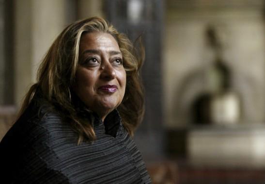 Zaha Hadid est la seule femme à avoir obtenu le prix Pritzker (en 2004), l'équivalent du Nobel chez les architectes. (AP, Kevork Djansezian)
