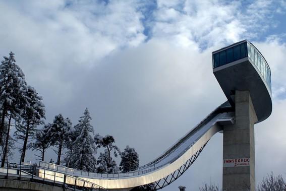 Le tremplin de saut à ski des JO d'Innsbruck, en Autriche (Archives Le Soleil)