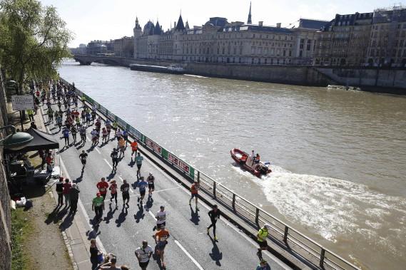 43 317 coureurs ont participé à l'épreuve. (AFP, Thomas Samson)