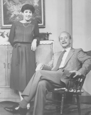 Rita Lafontaine et Fernand Gignac dans l'émissionLes Moineau et les Pinson en 1982 (Archives Le Soleil)