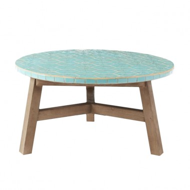 Table à café mosaïque, West Elm, 449$. (Photo fournie par West Elm.)