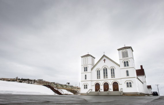 L'église Saint-François-Xavier accueille jusqu'à 700personnes. (Paul Chiasson, PC)
